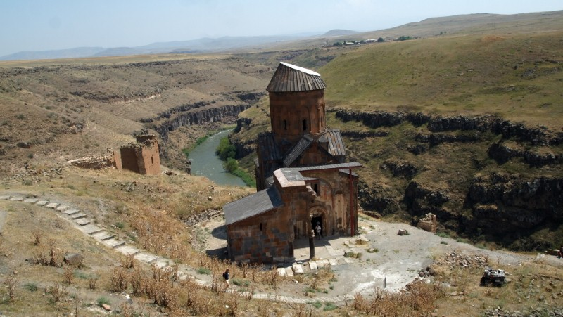Ani, Kars, Turquía, Turkey, georgian church, canyon