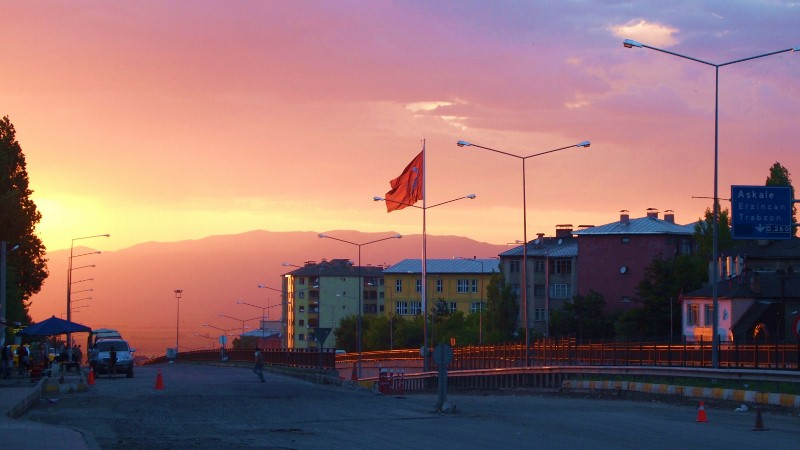 Erzurum, Turquía, Turkey, Sunset